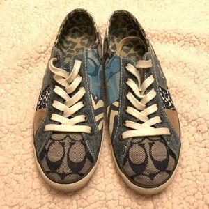 Coach Denim multi Patterned Sneakers